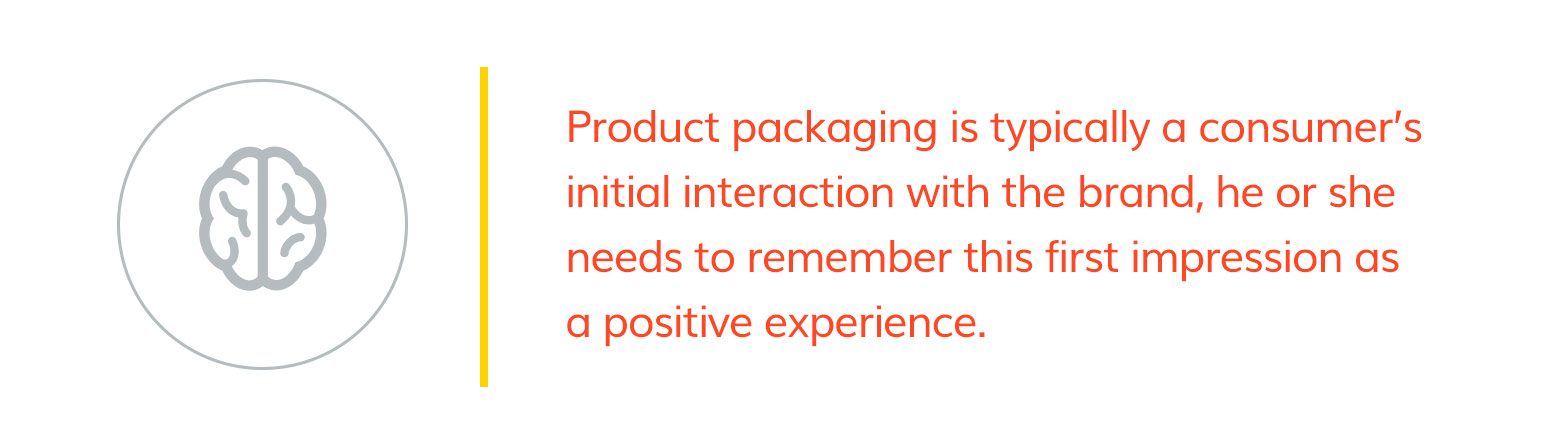 Packaging is the consumer's first interact with your brand