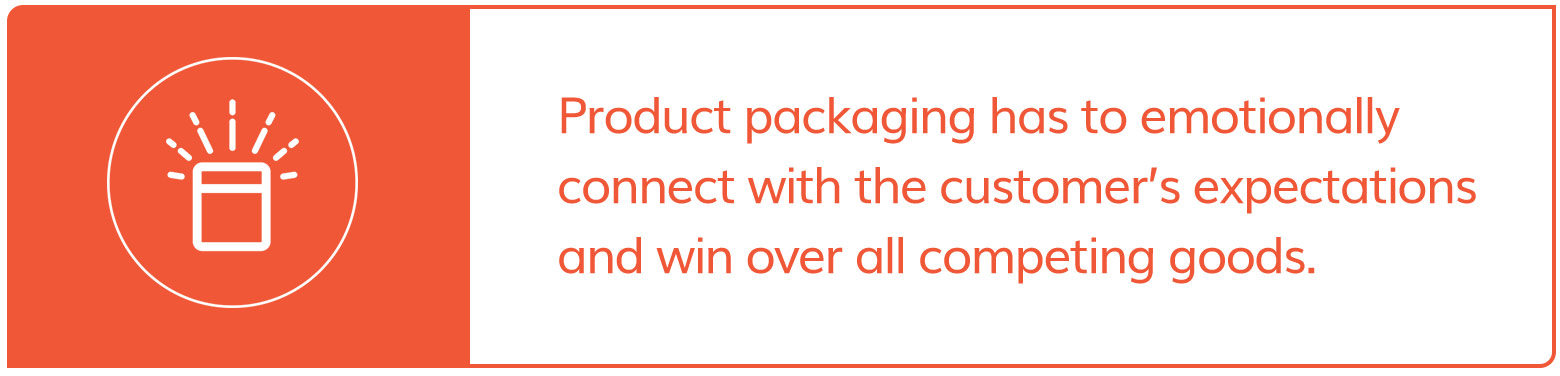 Packaging has to emotionally connect to consumer's expectations